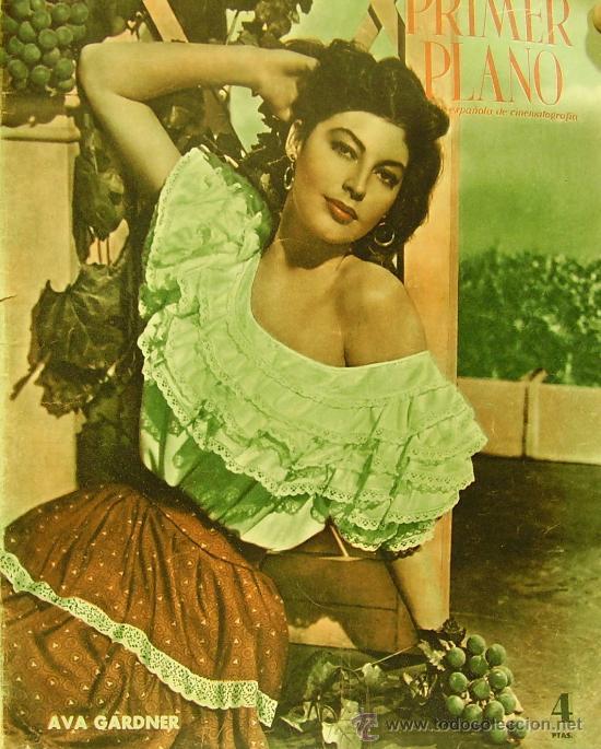 REVISTA PRIMER PLANO - AVA GARDNER, YVONNE DE CARLO 1951 Nº56 (Cine - Revistas - Primer plano)