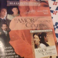 Cine: 'EL AMOR EN LOS TIEMPOS DEL CÓLERA', CON JAVIER BARDEM. PUBLICIDAD EN PRENSA.. Lote 24484252