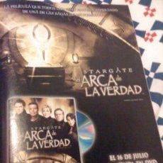 Cine: 'STARGATE - EL ARCA DE LA VERDAD'. PUBLICIDAD EN PRENSA.. Lote 24484901