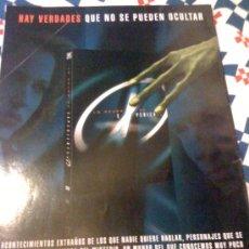 Cine: SERIE DE TV 'EXPEDIENTE X'. PUBLICIDAD EN PRENSA.. Lote 24485517
