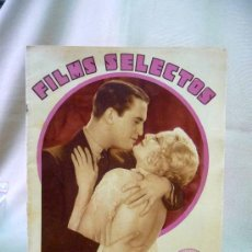Cine: REVISTA DE CINE, FILMS SELECTOS, SEMANARIO CINEMATOGRAFICO, AÑO III, Nº 78, 1932, ALLISON LLOYD. Lote 24608773