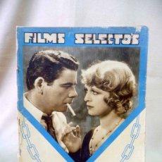 Cine: REVISTA DE CINE, FILMS SELECTOS, SEMANARIO CINEMATOGRAFICO, AÑO III, Nº 128, 1933, PAUL MUNI, . Lote 24608833