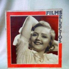 Cine: REVISTA DE CINE, FILMS SELECTOS, SEMANARIO CINEMATOGRAFICO, AÑO III, Nº 112, 1932, NANCY CARROLL,. Lote 24609330