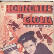 Cine: == V41 - HORIZONTES DE GLORIA - MICKEY ROONEY - PUBLICACIONES CINEMA - SERIE ESPLENDOR. Lote 24606096