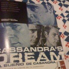 Cine: 'CASSANDRA'S DREAM - EL SUEÑO DE CASANDRA', DE WOODY ALLEN. PÁGINA DE PRENSA.. Lote 24721175