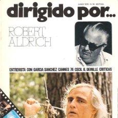 Cine: DIRIGIDO POR Nº 34 - REVISTA DE CINE – ROBERT ALDRICH. Lote 24772863