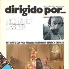 Cine: DIRIGIDO POR Nº 35 - REVISTA DE CINE – RICHARD LESTER. Lote 24773008