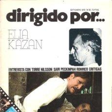Cine: DIRIGIDO POR Nº 36 - REVISTA DE CINE – ELIA KAZAN. Lote 24773117