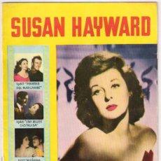 Cinema: COLECCION CINECOLOR Nº 17, SUSAN HAYWARD, FOTOS, BIOGRAFIA. Lote 24788623