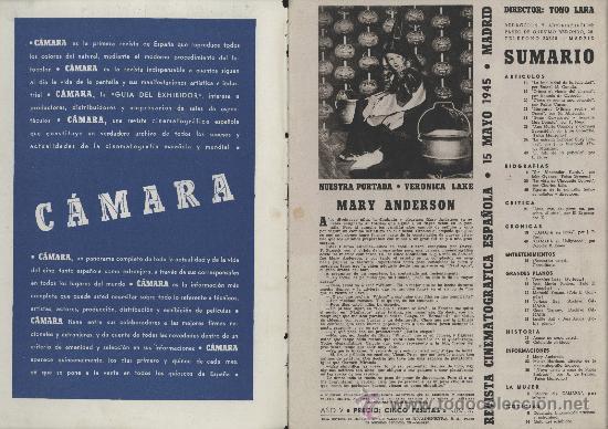 Cine: Cámara. Revista cinematográfica. Mayo 1945. Veronica Lake - Foto 3 - 26502589