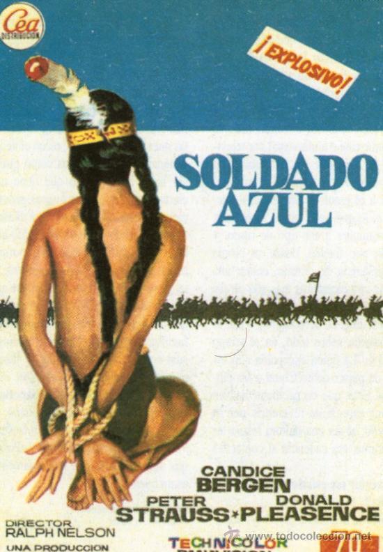 SOLDADO AZUL - PETER STRAUSS, CANDICE BERGEN - REPRODUCCION PROGRAMA DE MANO CINE (Cine - Reproducciones de carteles, folletos...)