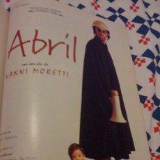Cine: 'ABRIL', DE NANNI MORETTI. PÁGINA DE PRENSA.. Lote 25113553
