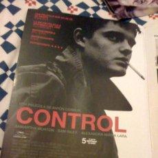 Cine: 'CONTROL', DE ANTON CORBIJN. PÁGINA DE PRENSA.. Lote 25133448