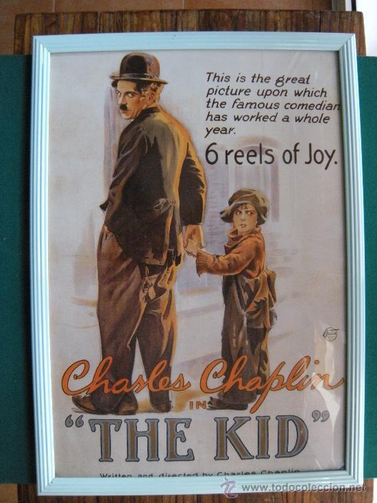 cartel enmarcado cine película the kid charles - Comprar ...