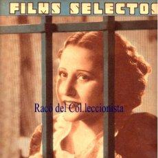 Cine: REVISTA CINE: FILMS SELECTOS 04-07-DEL 36 Nº 298. RAQUEL RODRIGO, CONTRAP. MYRNA LOY Y CLARK GABLE. Lote 25406092