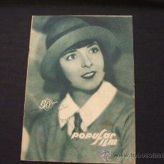 Cine: POPULAR FILM - AÑO IV - Nº 171 - 7 NOVIEMBRE 1929 - . Lote 25581447