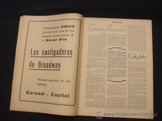 Cine: POPULAR FILM - AÑO VI - Nº 240 - 19 MARZO 1931 - - Foto 3 - 25579413
