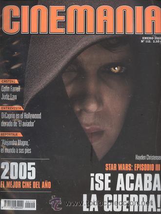 REVISTA CINEMANIA, Nº 112, ENERO 2005: STAR WARS, EPISODIO III (Cine - Revistas - Cinemanía)