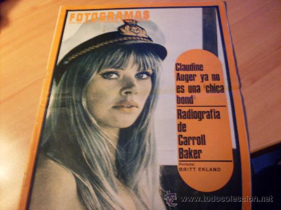 FOTOGRAMAS Nº 995 10 NOVIEMBRE 1967 ( BRITT EKLAND PORTADA , CARROLL BAKER , ETC ) (F1) (Cine - Revistas - Fotogramas)