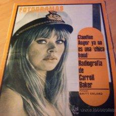 Cine: FOTOGRAMAS Nº 995 10 NOVIEMBRE 1967 ( BRITT EKLAND PORTADA , CARROLL BAKER , ETC ) (F1). Lote 287948898