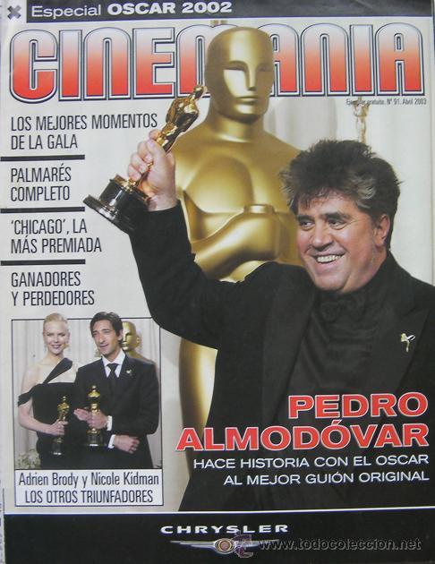 CINEMANIA, REVISTA ESPECIAL OSCAR 2002, PEDRO ALMODOVAR, CHICAGO LA MÁS PREMIADA (Cine - Revistas - Cinemanía)