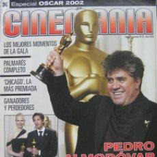Cine: CINEMANIA, REVISTA ESPECIAL OSCAR 2002, PEDRO ALMODOVAR, CHICAGO LA MÁS PREMIADA. Lote 26120884