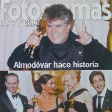 Cine: CINE FOTOGRAMAS, SUPLEMENTO OSCAR 2002, ALMODOVAR HACE HISTORIA-LOS OSCAR SON PARA CHICAGO. Lote 27020771