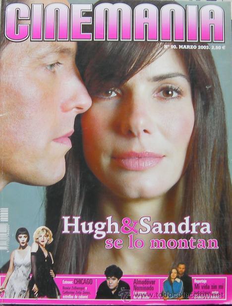CINEMANIA,REVISTA MARZO 2003, HUGH Y SANDRA SE LO MOMTAN, CHICAGO RENEE ZELLWEGER Y CATHERINE ZETA (Cine - Revistas - Cinemanía)