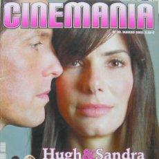 Cine: CINEMANIA,REVISTA MARZO 2003, HUGH Y SANDRA SE LO MOMTAN, CHICAGO RENEE ZELLWEGER Y CATHERINE ZETA. Lote 27186524