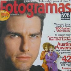 Cine: FOTOGRAMAS REVISTA,OCTUBRE 2002-CRUISE MINORITY REPORT, HANNIBAL LECTER DRAGON ROJO-AUSTIN POWERS. Lote 27228777