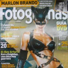 Cine: FOTOGRAMAS, AGOSTO 2004-MARLON BRANDO-YO ROBOT WILL SMITH-EL REY ARTURO KEIRA KNIGHTLEY, HALLE BERRY. Lote 27825529