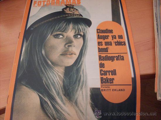 FOTOGRAMAS Nº 995 10 NOVIEMBRE 1967 ( BRITT EKLAND CLAUDINE AUGER CARROLL BAKER )( F1) (Cine - Revistas - Fotogramas)