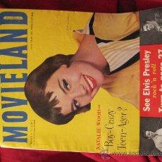Cine: REVISTA DE CINE-MOVIELAND-MARZO 1957-USA-ELVIS PRESLEY EN PORTADA E INTERIORES. Lote 26089090