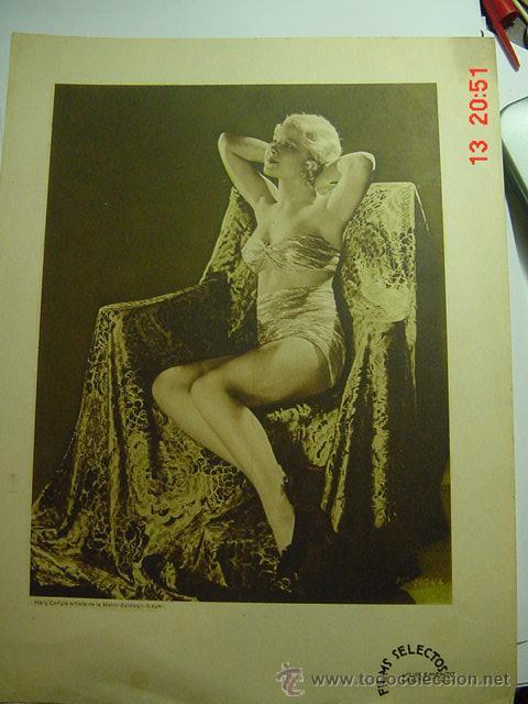 129 MARY CARLYLE PRECIOSA LAMINA CENTRAL DE LA REVISTA FILMS SELECTOS AÑOS 1920 (Cine - Revistas - Films selectos)