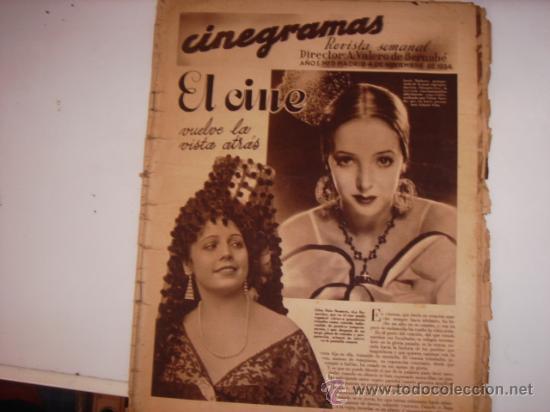 REVISTA CINEGRAMAS (Cine - Revistas - Cinegramas)