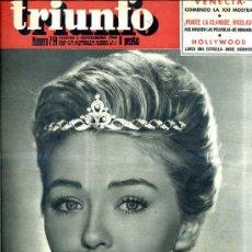 Cine: TRIUNFO Nº 759 - 1 SETIEMBRE 1960. Lote 26390887
