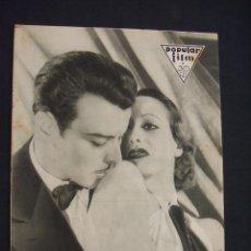 Cine: POPULAR FILM - Nº 322 - 13 OCTUBRE 1932 - PORTADA, JOAN CRAWFORD Y NILS ASTHER - . Lote 26405354