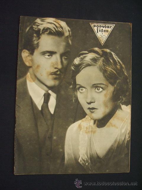 POPULAR FILM - Nº 309 - 14 JULIO 1932 - PORTADA, PHILLIP HOLMES Y NANCY CARROLL - (Cine - Revistas - Popular film)