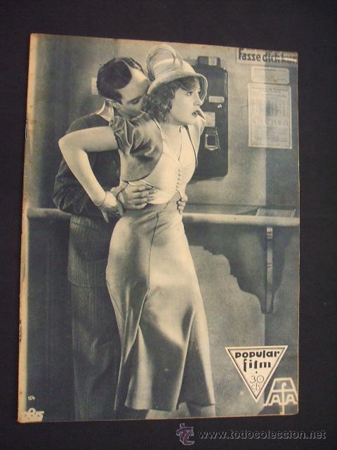 POPULAR FILM - Nº 312 - 4 AGOSTO 1932 - PORTADA, MARTA EGGERTH - (Cine - Revistas - Popular film)