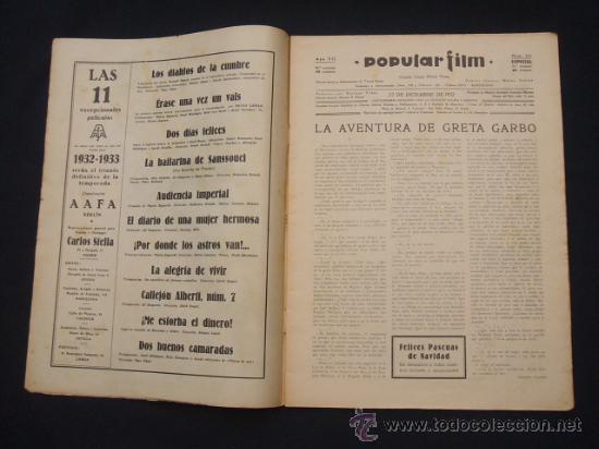 Cine: POPULAR FILM - Nº 332 ESPECIAL - 22 DICIEMBRE 1932 - PORTADA, DANIELA PAROLA - - Foto 2 - 26404960