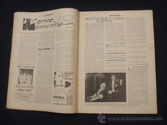 Cine: POPULAR FILM - Nº 332 ESPECIAL - 22 DICIEMBRE 1932 - PORTADA, DANIELA PAROLA - - Foto 3 - 26404960