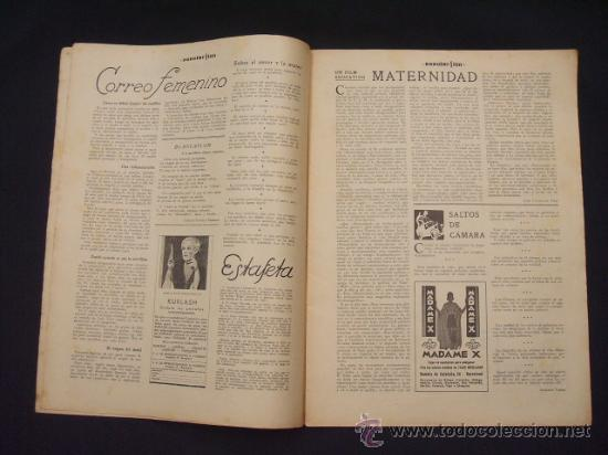 Cine: POPULAR FILM - Nº 309 - 14 JULIO 1932 - PORTADA, PHILLIP HOLMES Y NANCY CARROLL - - Foto 3 - 26405960
