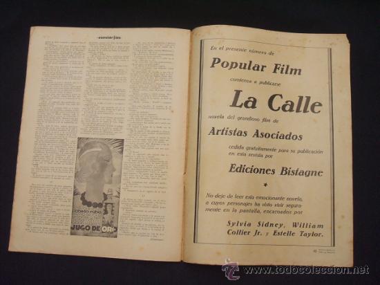 Cine: POPULAR FILM - Nº 309 - 14 JULIO 1932 - PORTADA, PHILLIP HOLMES Y NANCY CARROLL - - Foto 16 - 26405960