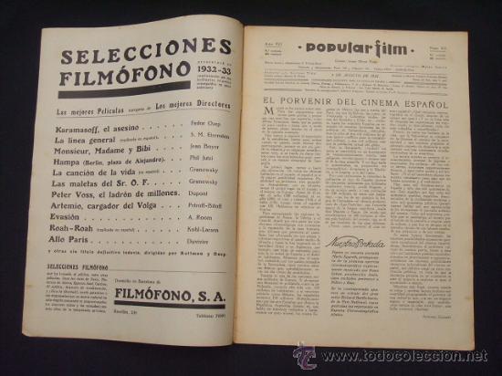 Cine: POPULAR FILM - Nº 312 - 4 AGOSTO 1932 - PORTADA, MARTA EGGERTH - - Foto 2 - 26406030