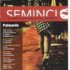 Cine: 55 SEMANA INTERNACIONAL DE CINE VALLADOLID PALMARES . Lote 133170054