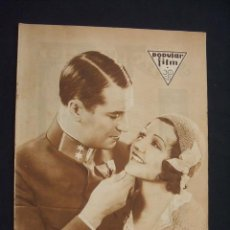 Cine: POPULAR FILM - Nº 288 - 18 FEBRERO 1932 - PORTADA, MAURICIO CHEVALIER Y CLAUDETTE COLBERT - . Lote 26410332
