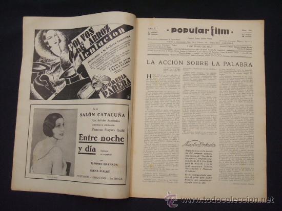 Cine: POPULAR FILM - Nº 299 - 5 MAYO 1932 - PORTADA, JOHNNY WEISSMULLER Y MAUREN OSULLIVAN - - Foto 2 - 26410394