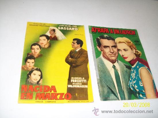 COLECCIÓN DE GRANDES PELÍCULAS: NACIDA EN MARZO Y ATRAPA A UN LADRÓN- EDICIONES MANDOLINA (Cine - Revistas - Colección grandes películas)