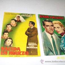 Cine: COLECCIÓN DE GRANDES PELÍCULAS: NACIDA EN MARZO Y ATRAPA A UN LADRÓN- EDICIONES MANDOLINA. Lote 26515937