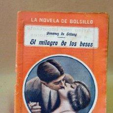 Cine: LIBRO, NOVELAS DE BOLSILLO,EL MILAGRO DE LOS BESOS, JIMENEZ DE LETANG. Lote 26521527